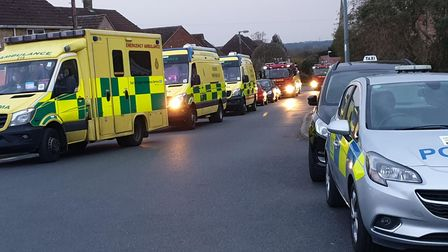 Emergency services responded to an incident in Highfields, Saffron Walden