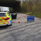 Police road closed a505