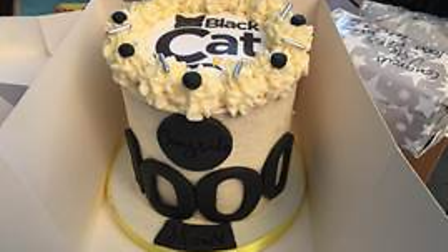 The Black Cat cake made by a listener.