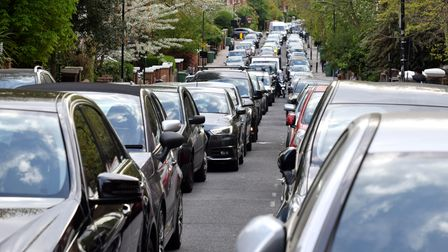 Traffic on Greencroft Gardens in Swiss Cottage
