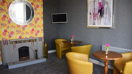 The refurbished resident's lounge in the Furzedown Hotel in Great Yarmouth, ready for the May 17th r