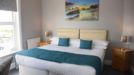 One of the refurbished bedrooms in the Furzedown Hotel in Great Yarmouth, ready for the May 17th reo