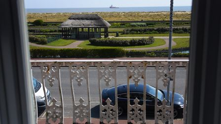 The sea view from one of the bedroom windows in the refurbished Furzedown Hotel in Great Yarmouth, r