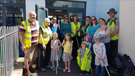 One of the many community litter pick ups