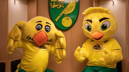 The original Captain Canary (left) passes the torch on to the new version (right)