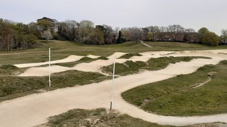 The current BMX track in Landseer Park, Ipswich