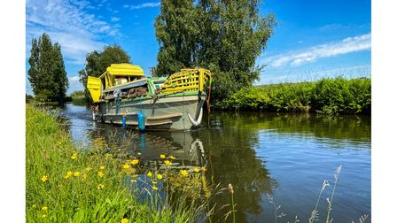 A boat in the Bridgewater Canal at Moore