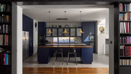 Bespoke kitchen table designed by Mulroy Architects in Kentish Town.