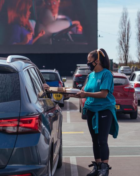 Drive in cinemas at Brent Cross and Ally Pally offer a food and drink service to the car