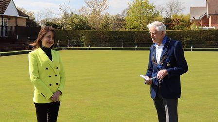 Councillor Annie Brewster was at Townsend Bowls Club's official opening day