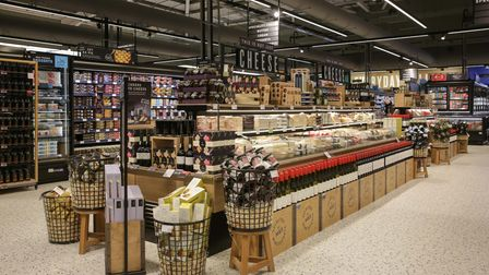 M&S Staines in-store cheese barge