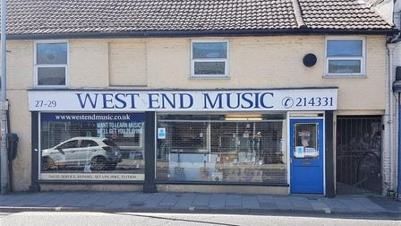 West End Music in Norwich Road, Ipswich, is closing