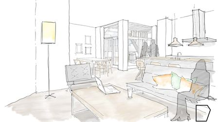 Sketch for new apartments