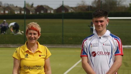 Helen Sargeant and Alex Bird of St Neots Hockey Club
