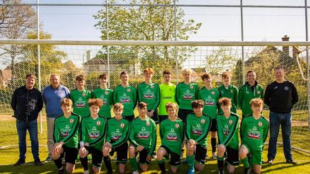Sidmouth Town U16s play their final game