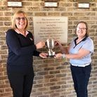 Marion Goodwill (left) and ladies' captain Marie Woodall of St Ives Golf Club