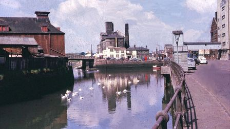 St Peter's Dock in Ipswich in 1962