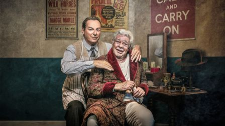 Julian Clary and Matthew Kelly star in The Dresser at the Cambridge Arts Theatre