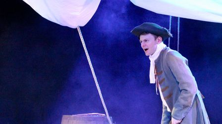 Simon Stallard in Treasure Island which is being staged at St Mary on the Quay in Ipswich in June