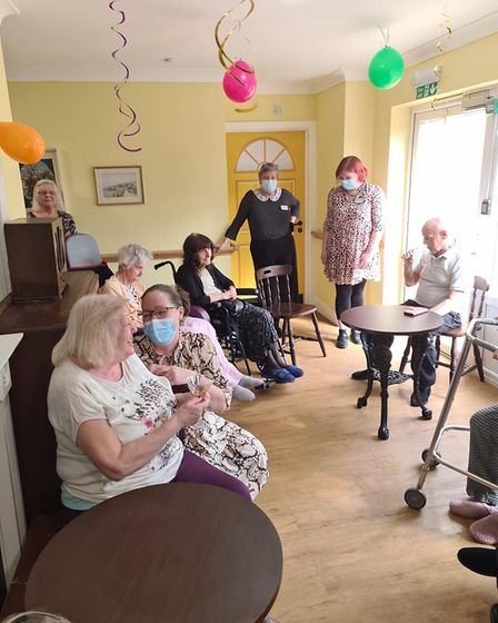 Residents and staff are enjoying the atmosphere at The Pickering Arms, at Iceni House, Swaffham.