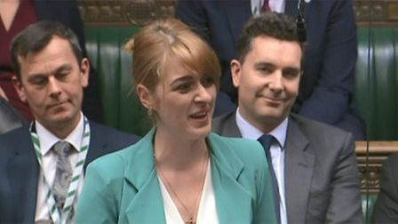 Dehenna Davison gives her maiden speech in the House of Commons. Photograph: Parliament TV.