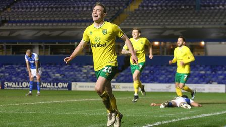 Oliver Skipp scored his first goal for Norwich City during last month's 3-1 win at Brimingham