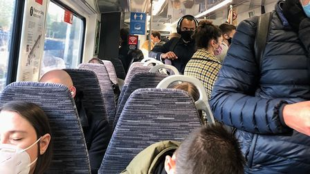 Busy Greater Anglia train