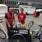 Havering Cyclists members Jeff Stafford (L) and Terry Hughes (R) have added their names to the open