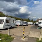 Travellers in Oxleys Road, Dollis Hill, which is owned by Brent Council, were told to move on