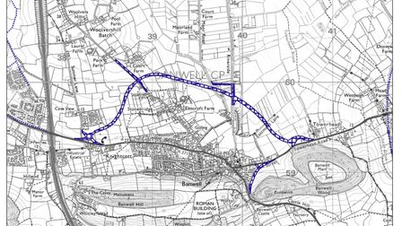 Banwell Bypass route.