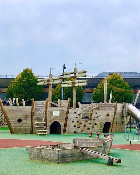Pirate ship play area at White Horse at Chester Racecourse