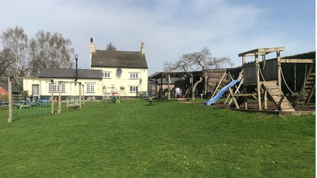 The playground at the Railway Inn, Mobberley