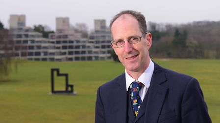 UEA vice chancellor David Richardson.