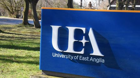 The UEA sign, Earlham Road entrance.