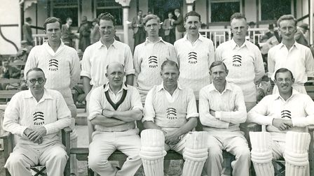Stan Cray in the Essex County XI in 1947.He is standing, far right