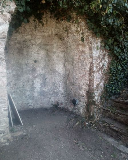 The lime kiln at the top of the garden