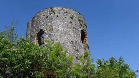 The Black Tower, part of the city wall, stands proud at the top of Carrow Hill. Picture: DENISE BRAD