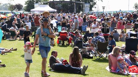 Crowds at the Nearly Festival of tribute bands at Oulton Broad. Picture: DENISE BRADLEY