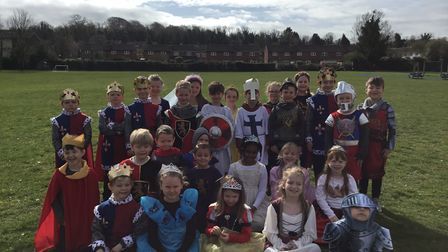Year 2 children at Icknield Walk First School in Royston celebrated a Medieval Day