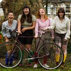 The troupe with one of their Pashley cycles