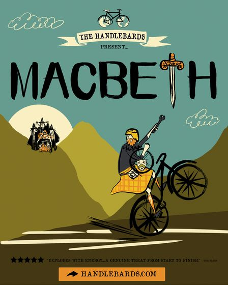 Poster for the Handlebards' performance of Macbeth