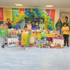 Newfield primary pupils and staff dress up in the colours of the St Vincent and the Grenadines