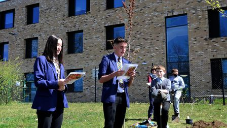 Pupils at Chantry Academy held a ceremony for the new trees.