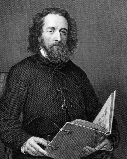 Alfred Lord Tennyson (1809-1892) on engraving from 1872. Poet Laureate of Great Britain and Ireland