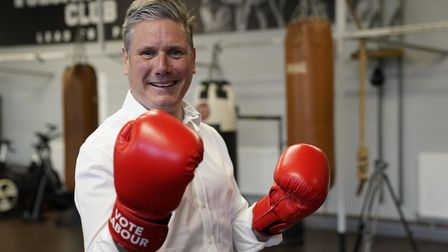 Labour leader Keir Starmer during a visit to the Vulcan Boxing Club in Hull, East Yorkshire