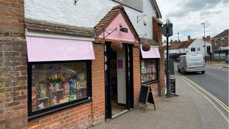 Yum Yums Sweet Shop in Fairland Street, Wymondham, will be one of the businesses affected by the roadworks.
