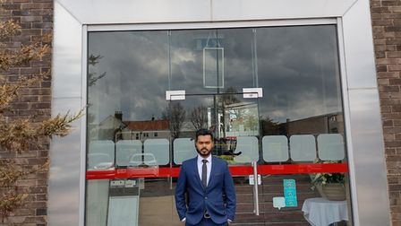 Amran Hussen, manager of Red Mango in Norwich