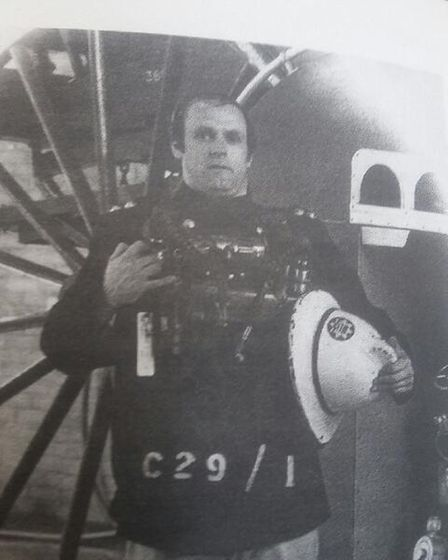Allan Grice during his days as a fire fighter