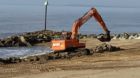 Removing the rocks hidden by the waves will make area safer for swimmers and paddlers