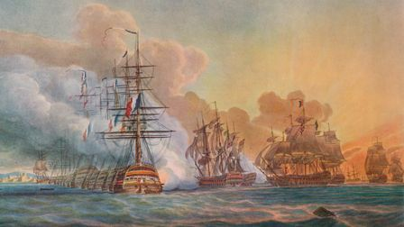 'Battle of the Nile' (c1799), from 'Old Naval Prints,' by Charles N Robinson & Geoffrey Holme